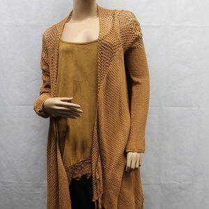 Daytrip Short/Long Crochet Open Fringed Cardigan